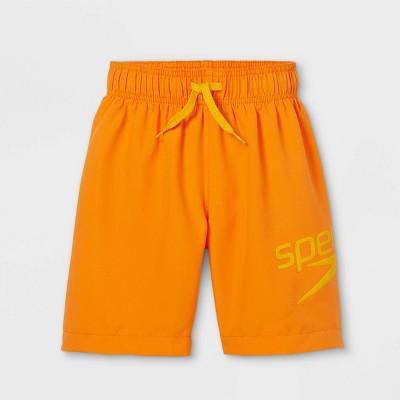 "Speedo Boys' Volley 15"" Swim Trunks - Orange"