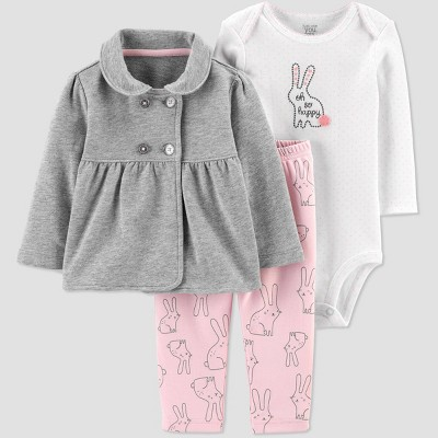 Baby Girls' North Bunny Top & Bottom Set - Just One You® made by carter's Gray 18M