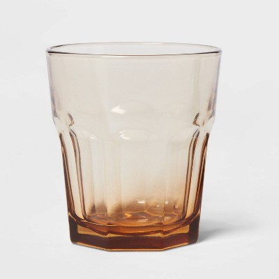 12oz Glass Tremont Short Faceted Tumbler Brown - Threshold™