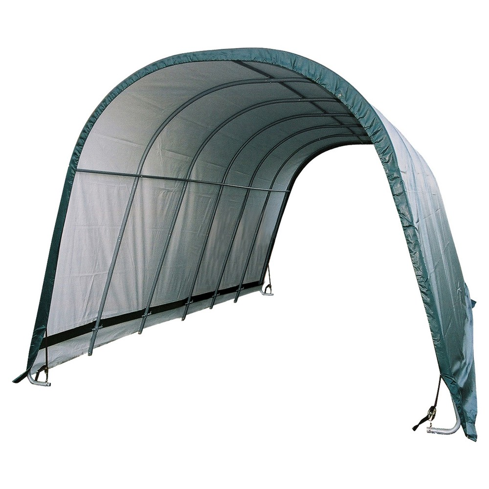 Equine Run - In Shed Round - Style 12' X 24' X 9' - Green - Shelterlogic