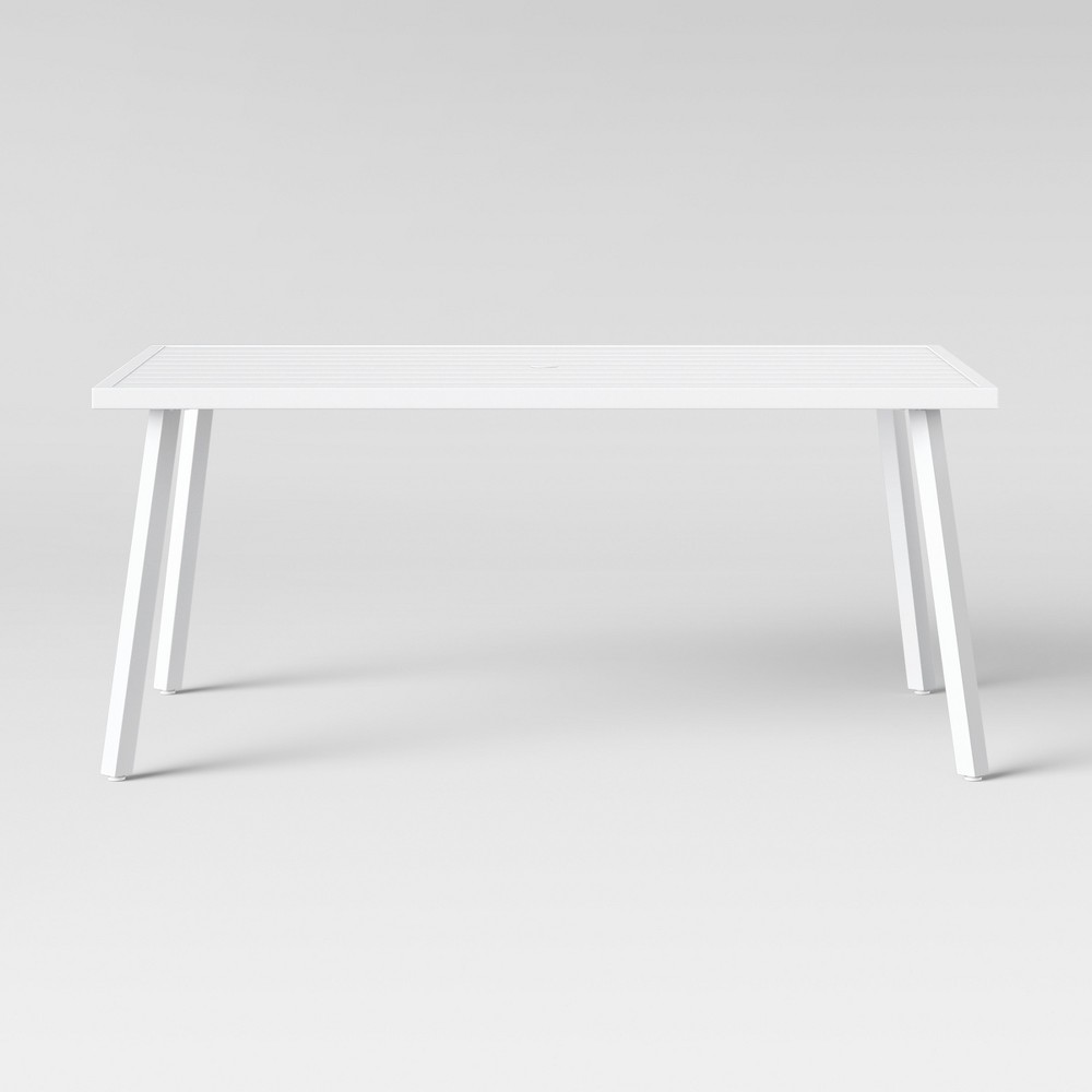 Beacon Hill 6 Person Slat Top Patio Dining Table White - Project 62