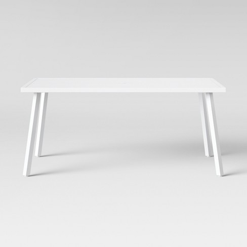 Beacon Hill 6 Person Slat Top Patio Dining Table White - Project 62™ - image 1 of 3
