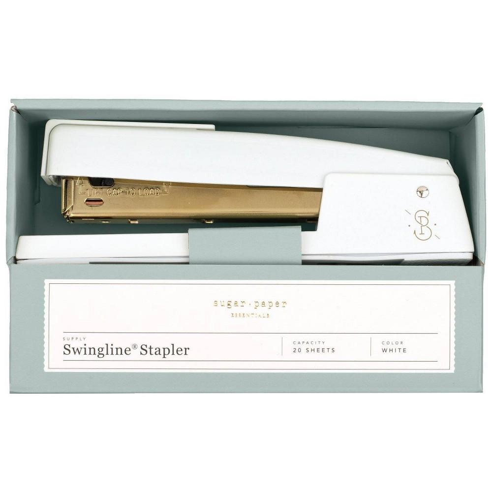 Image of Swingline 20 Sheet Capacity Stapler - White/Gold - Sugar Paper Essentials