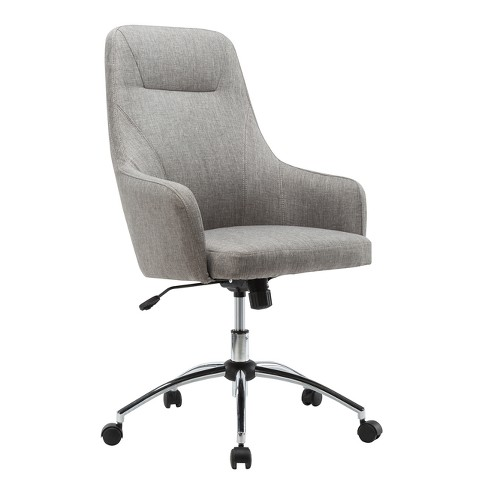 Incredible Comfy Height Adjustable Rolling Office Desk Chair Gray Techni Mobili Caraccident5 Cool Chair Designs And Ideas Caraccident5Info