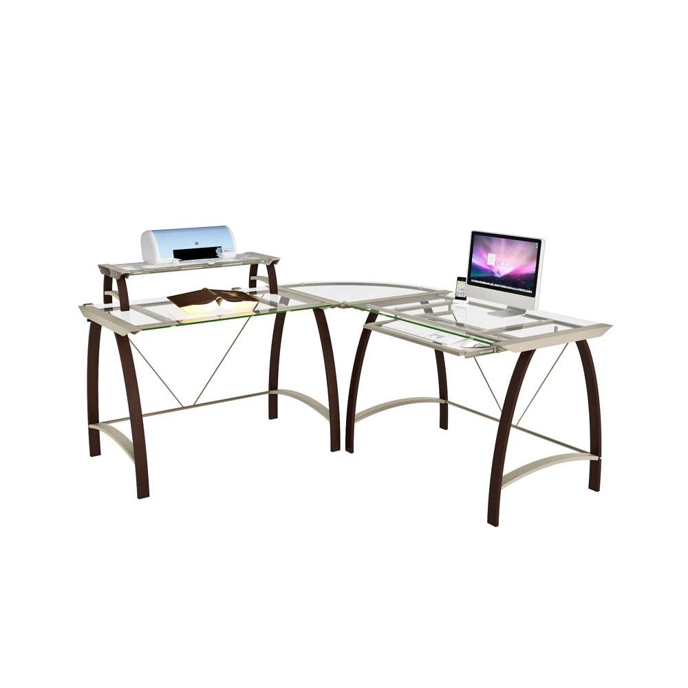 Image of Alek L Desk Espresso Brown - Monroe + James