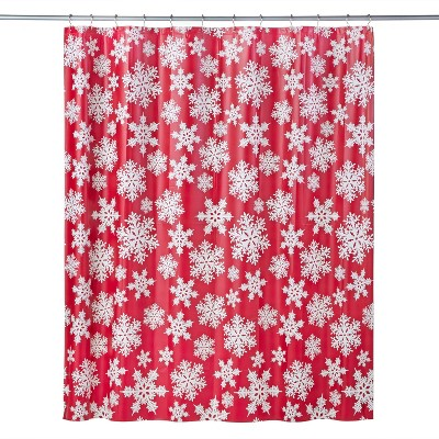 Frosty Shower Curtain Red - SKL Home