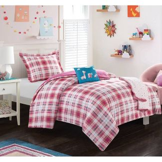 4pc Twin Cady Comforter Set Pink - Chic Home Design