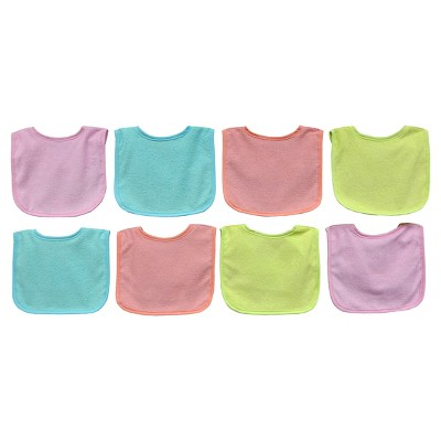 Neat Solutions Pastel 8pk Girl Bib with Water Resistant Core