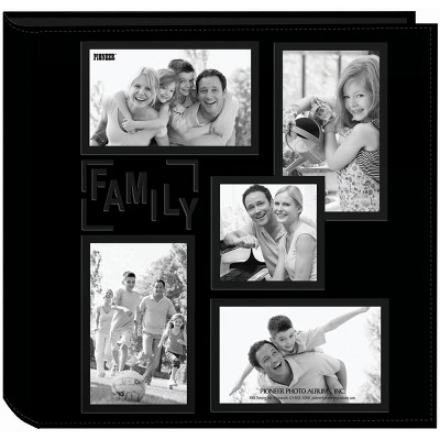 """Pioneer 5-Up Sewn Embossed Collage Frame Photo Album 12""""X12"""""""