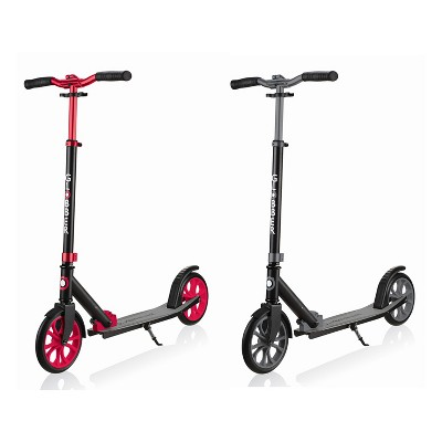 Globber Lightweight Adjustable Foldable 2-Wheel Kick Scooter for Kids, Teens, and Adults, 220 Pound Capacity, Red and Gray (2 Pack)