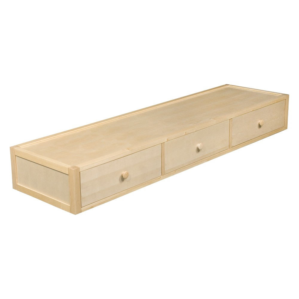 Image of Bed Accessory Under Bed 3 Drawer Case Natural - Bolton Furniture