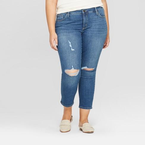 b4c9eaff968 Women s Plus Size Crop Skinny Jeans - Universal Thread™ Medium Wash ...