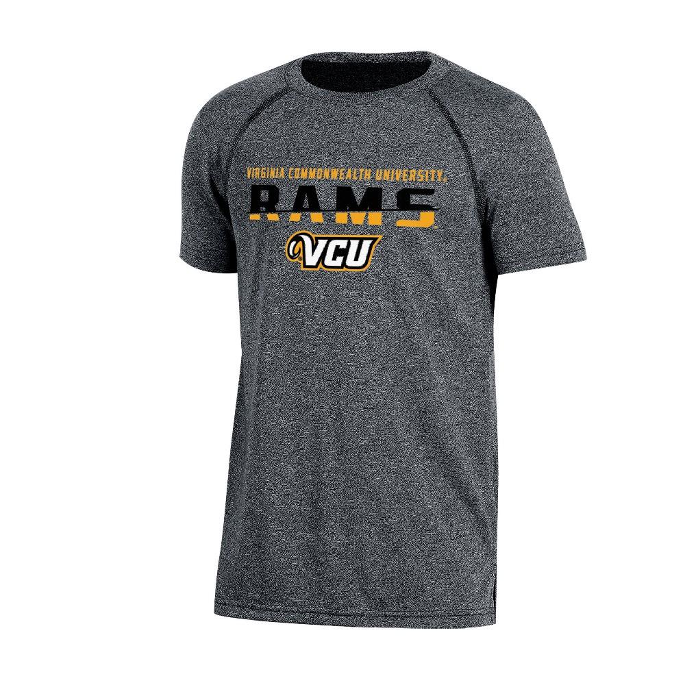 Vcu Rams Boys Short Sleeve Crew Neck Raglan Performance T-Shirt - Gray Heather S, Multicolored