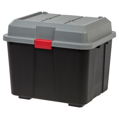 IRIS 4pk Hinged Lid Utility Trunk - Black