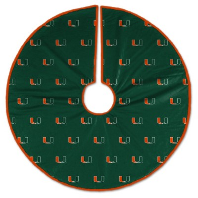 NCAA Miami Hurricanes Christmas Tree Skirt