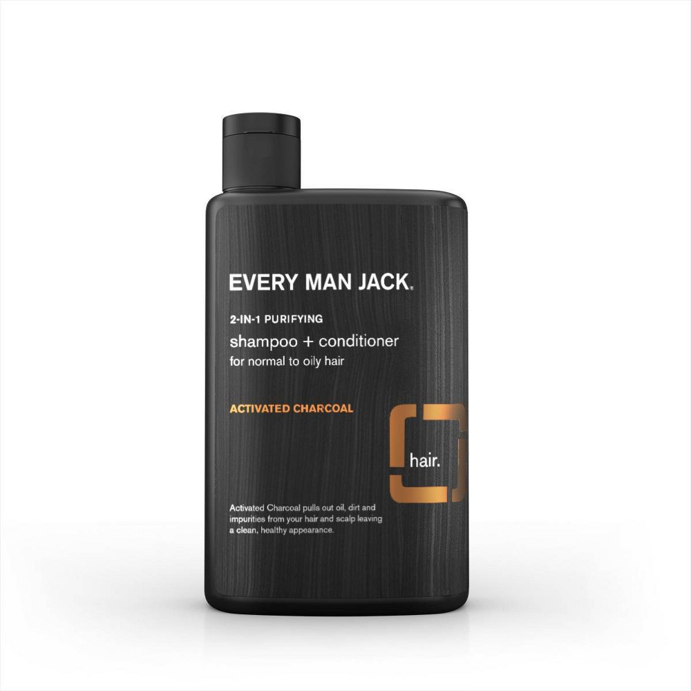 Image of Every Man Jack Activated Charcoal Purrifying 2 in 1 Shampoo + Conditioner -13.5oz