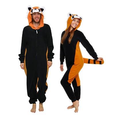 Funziez! Red Panda Slim Fit Adult Unisex Novelty Union Suit