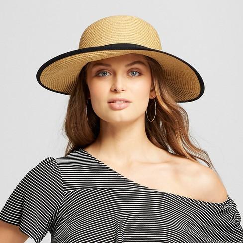 8dd139fe Women's Packable Backless Sunhat - A New Day™ Black : Target