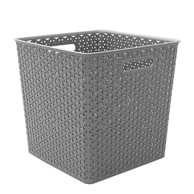 Cube Storage Basket - Gray - Room Essentials™