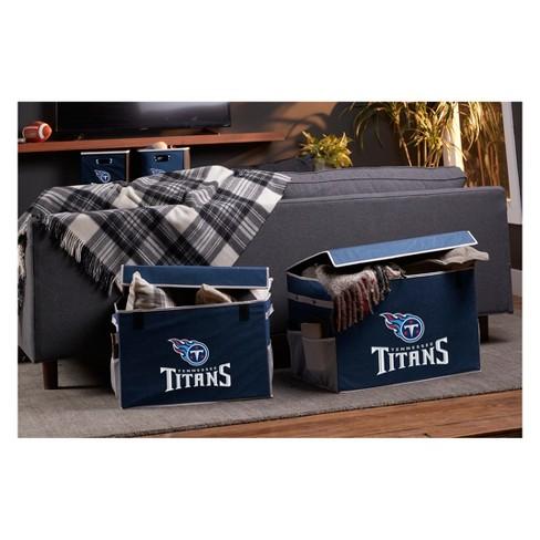 f735b4780 NFL Franklin Sports Tennessee Titans Collapsible Storage Footlocker Bins -  Large