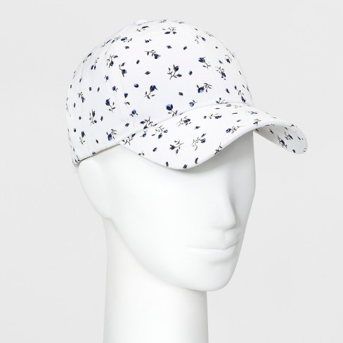 8c82cc221c7 Women s Floral Print Baseball Cap - Wild Fable™ White   Target