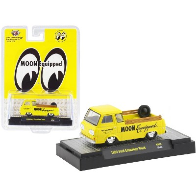 """1964 Ford Econoline Pickup Truck """"Moon Equipped"""" Bright Yellow Limited Edition to 8250 pcs 1/64 Diecast Model Car by M2 Machines"""