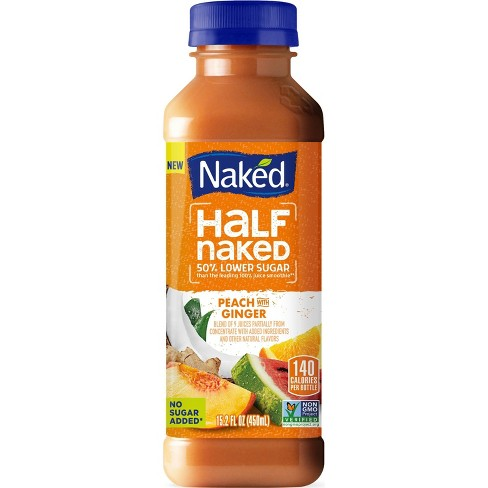 Naked Juice Half Naked Peach Ginger Juice Smoothie - 15.2 fl oz - image 1 of 1