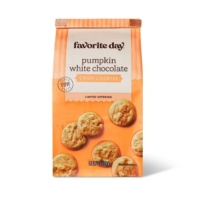 Pumpkin with White Chocolate Chip Crisp Cookie - 7oz - Favorite Day™