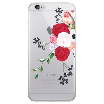 OTM Essentials Apple iPhone SE (2nd gen)/8/7/6s/6 Hybrid Clear Case - Winter Bird