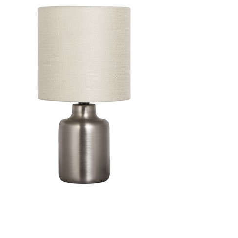 Metal base table lamp silver with tan shade adesso target metal base table lamp silver with tan shade adesso aloadofball Gallery