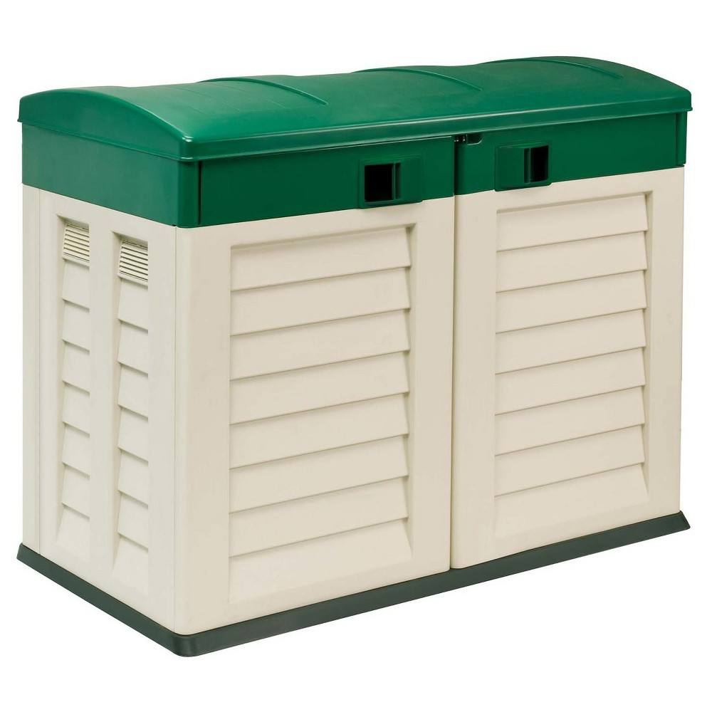 "Image of ""46.9"""" Garden Shed """"Willy"""" - Beige/Green - Starplast"""