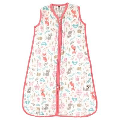Hudson Baby Infant Girl Muslin Cotton Sleeveless Wearable Sleeping Bag, Sack, Blanket, Woodland Fox