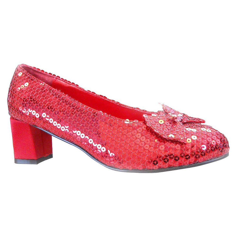Women's Dorothy Costume Sequin Shoes Red Size 8, Size: 8.0
