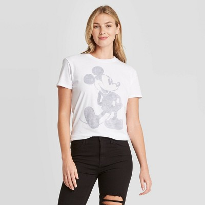 Women's Disney Classic Mickey Short Sleeve Graphic T-Shirt - White