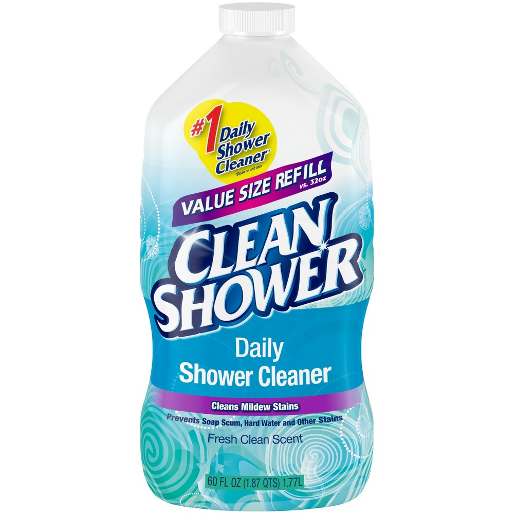Clean Shower Daily Shower Cleaner Refill Fresh Clean Scent 60 oz