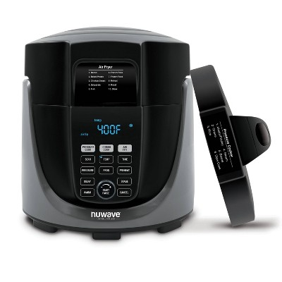 NuWave Duet 6qt Pressure Cooker and Air Fryer - Black