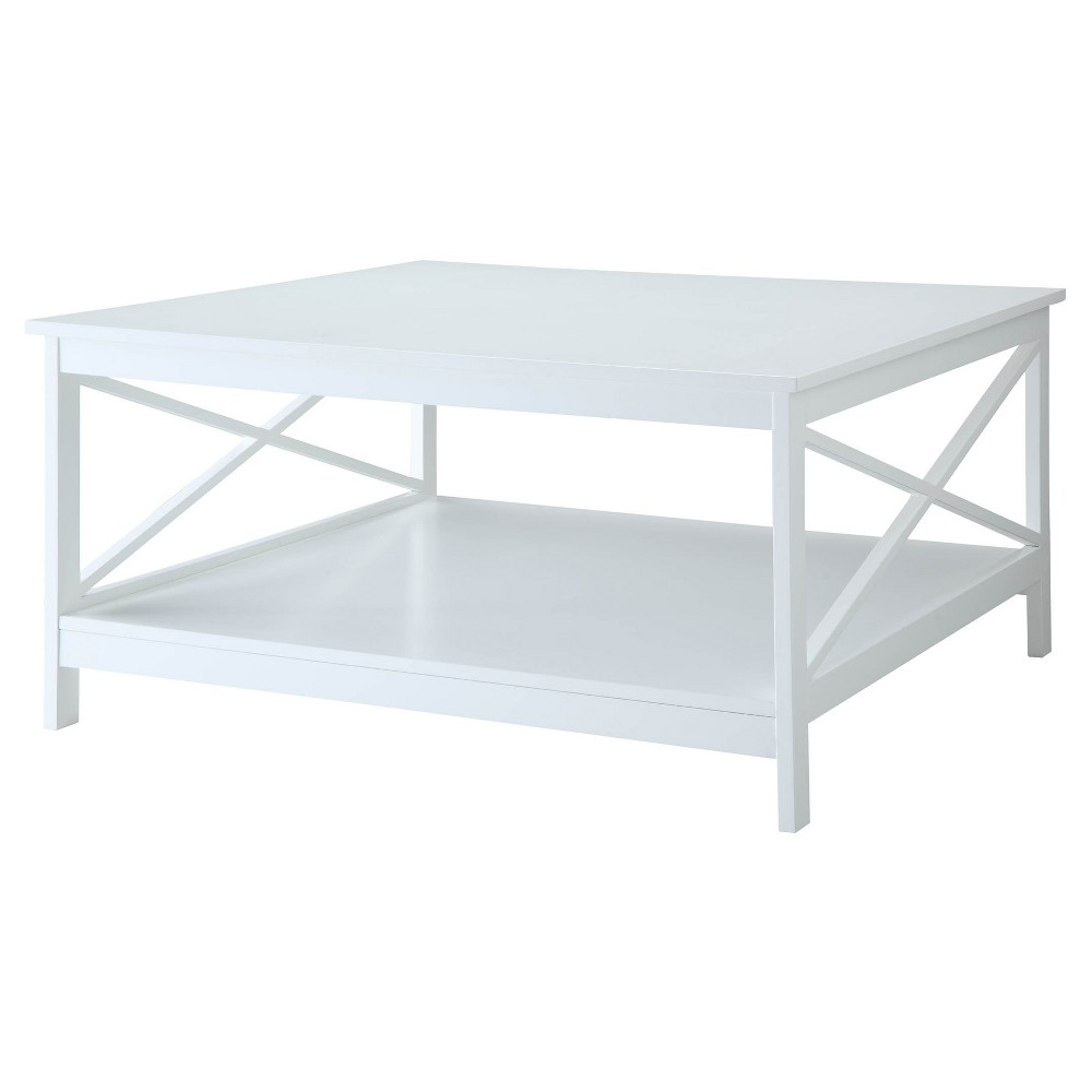 "Image of ""36"""" Oxford Square Coffee Table White - Johar Furniture"""