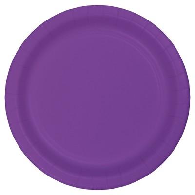 "Amethyst Purple 7"" Dessert Plates - 24ct"