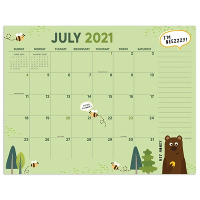 2021-22 Academic Desktop Calendar Monthly Theme Monthly - The Time Factory
