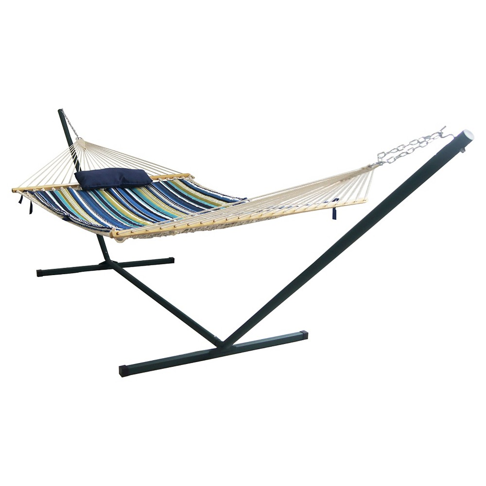 Image of Blue Wave Island Retreat 15' Hammock Set - Blue Cover