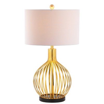 "29.5"" Metal Baird Table Lamp (Includes LED Light Bulb) Gold - JONATHAN Y"