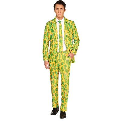 Adult Sunny Yellow Cactus Halloween Costume - M