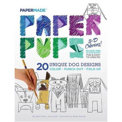 Paper Pups 3-D Coloring! - by  Papermade (Paperback) - image 1 of 1