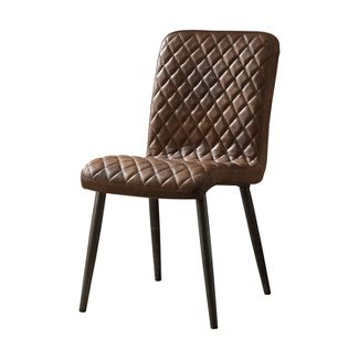 Acme Furniture Set of 2 Millerton Side Chair Chocolate Brown/Antique Black