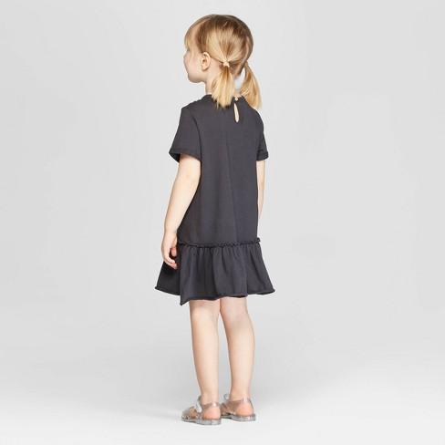 0f67f7bad9b Toddler Girls  Knit T-Shirt Dress - Art Class™ Black   Target