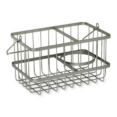 Over the Door Cabinet Hook Removable Basket Brushed Nickel - 88 Main