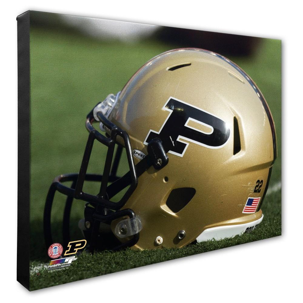 NCAA Purdue Boilermakers Helmet Canvas Wall Art - 16