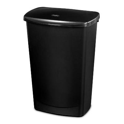 11.4gal LiftTop Wastebasket Black - Room Essentials™