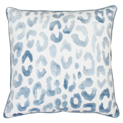 Miron Cheeta Print Oversize Square Throw Pillow Blue - Decor Therapy