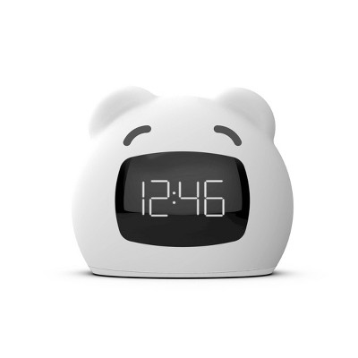 Kids' Wake Up Light Alarm Bear Clock White - Capello